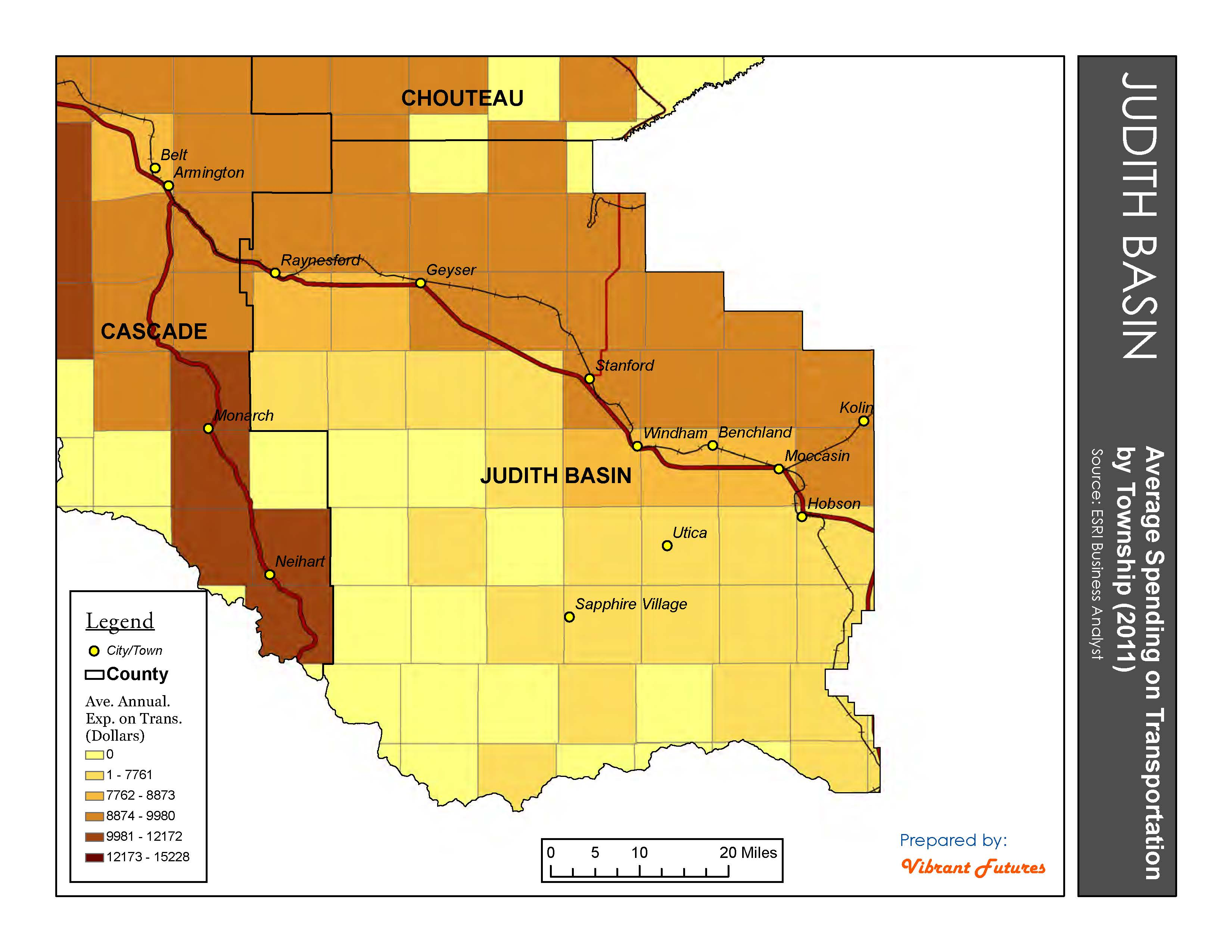 Average Expenditure on Transportation Judith Basin County