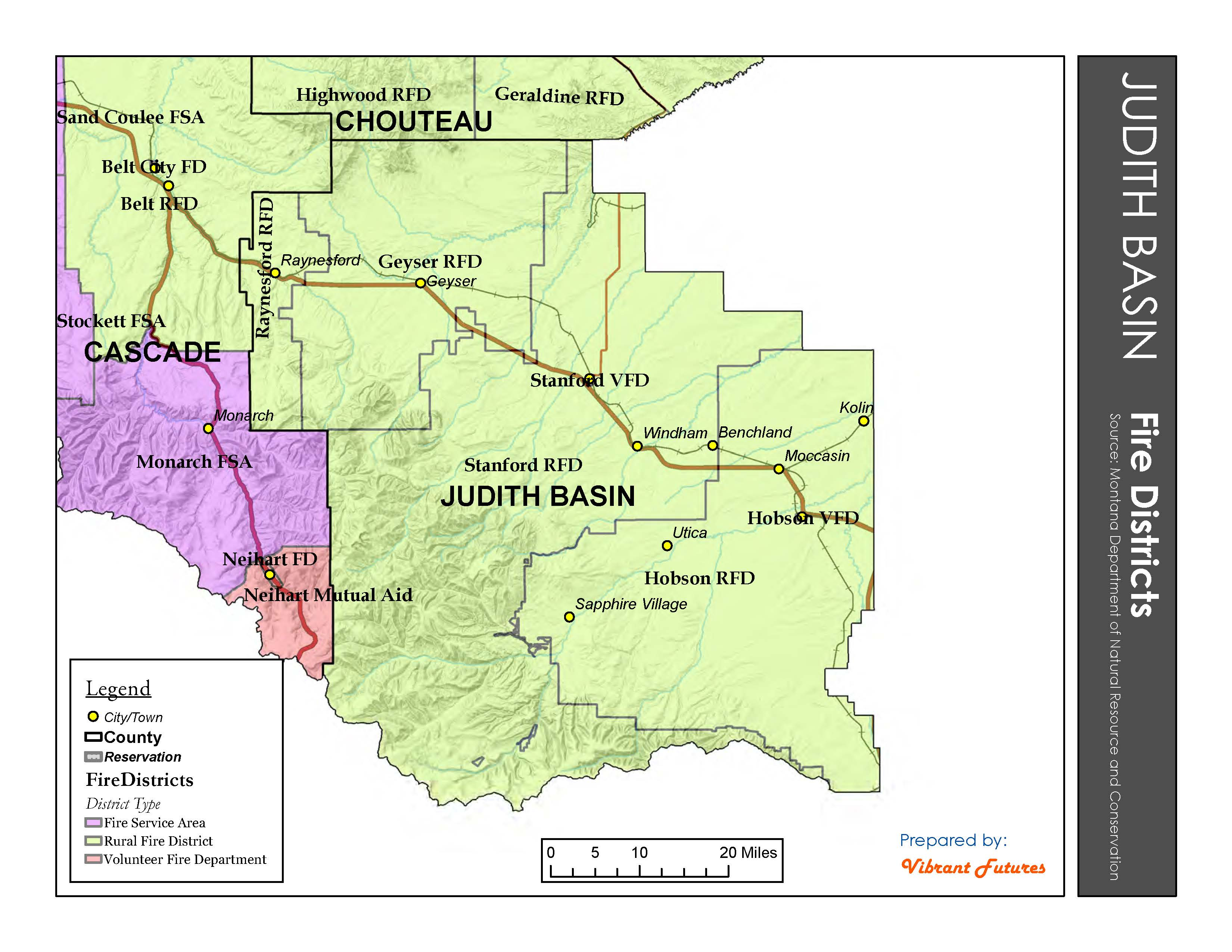 Fire Districts Judith Basin County