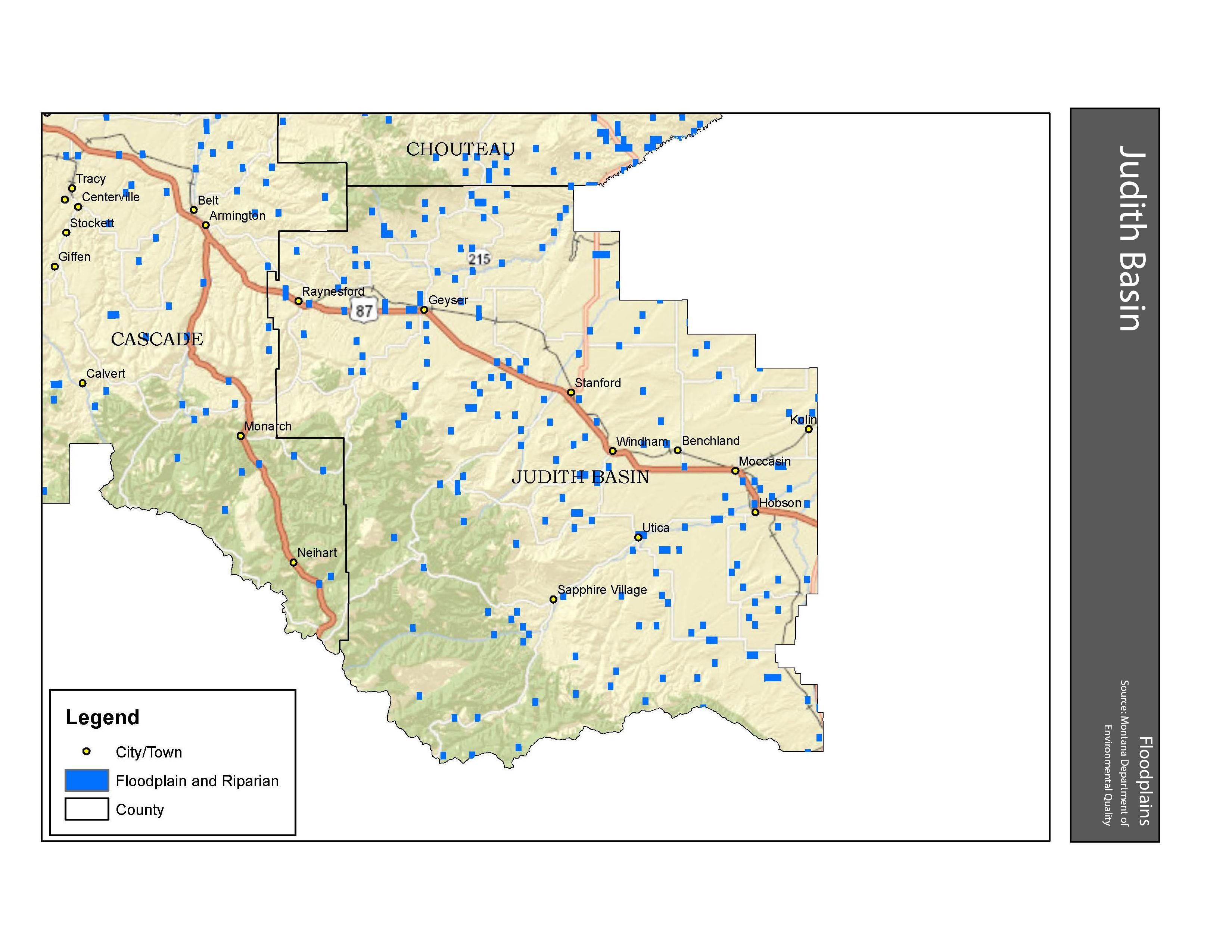 Floodplains Judith Basin County