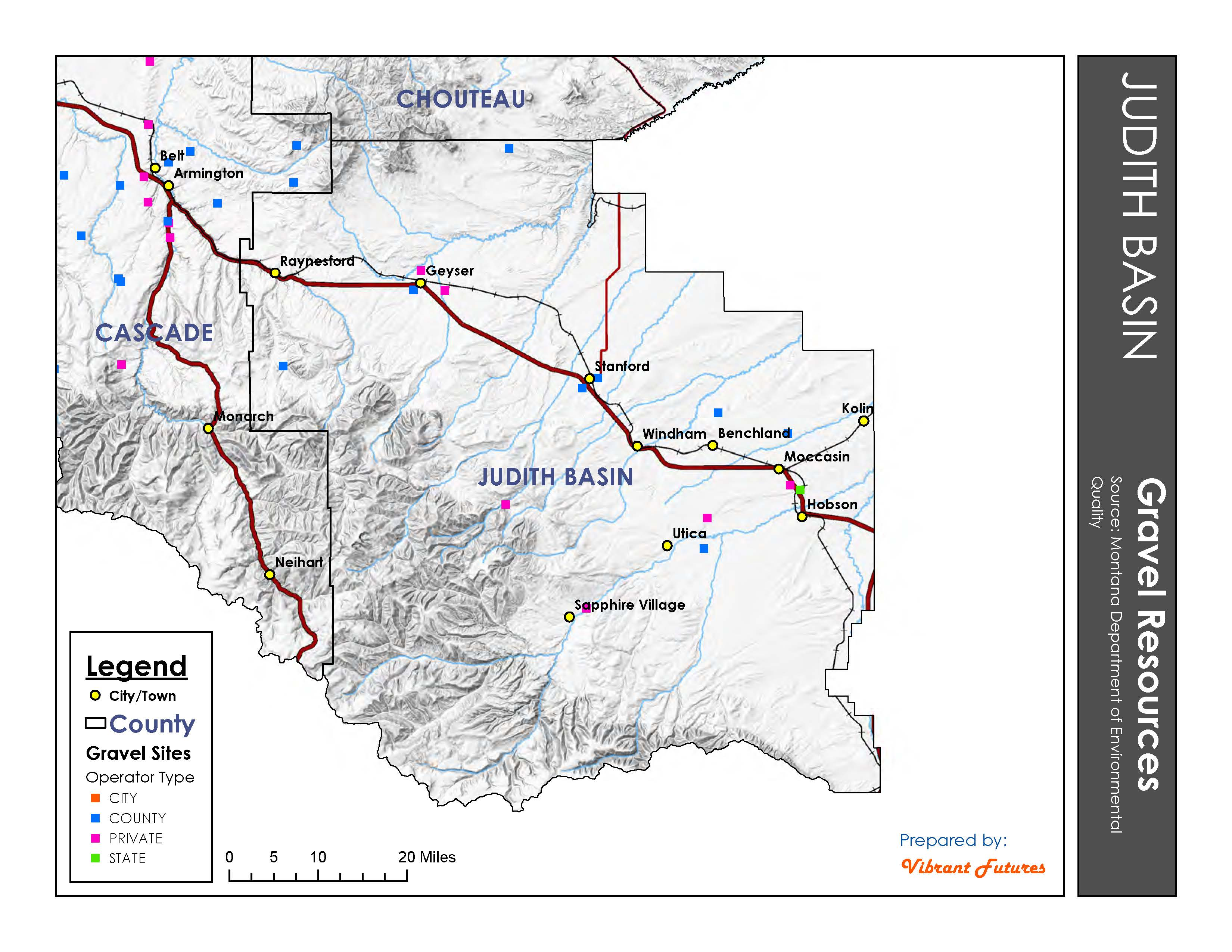 Gravel Resources Judith Basin County