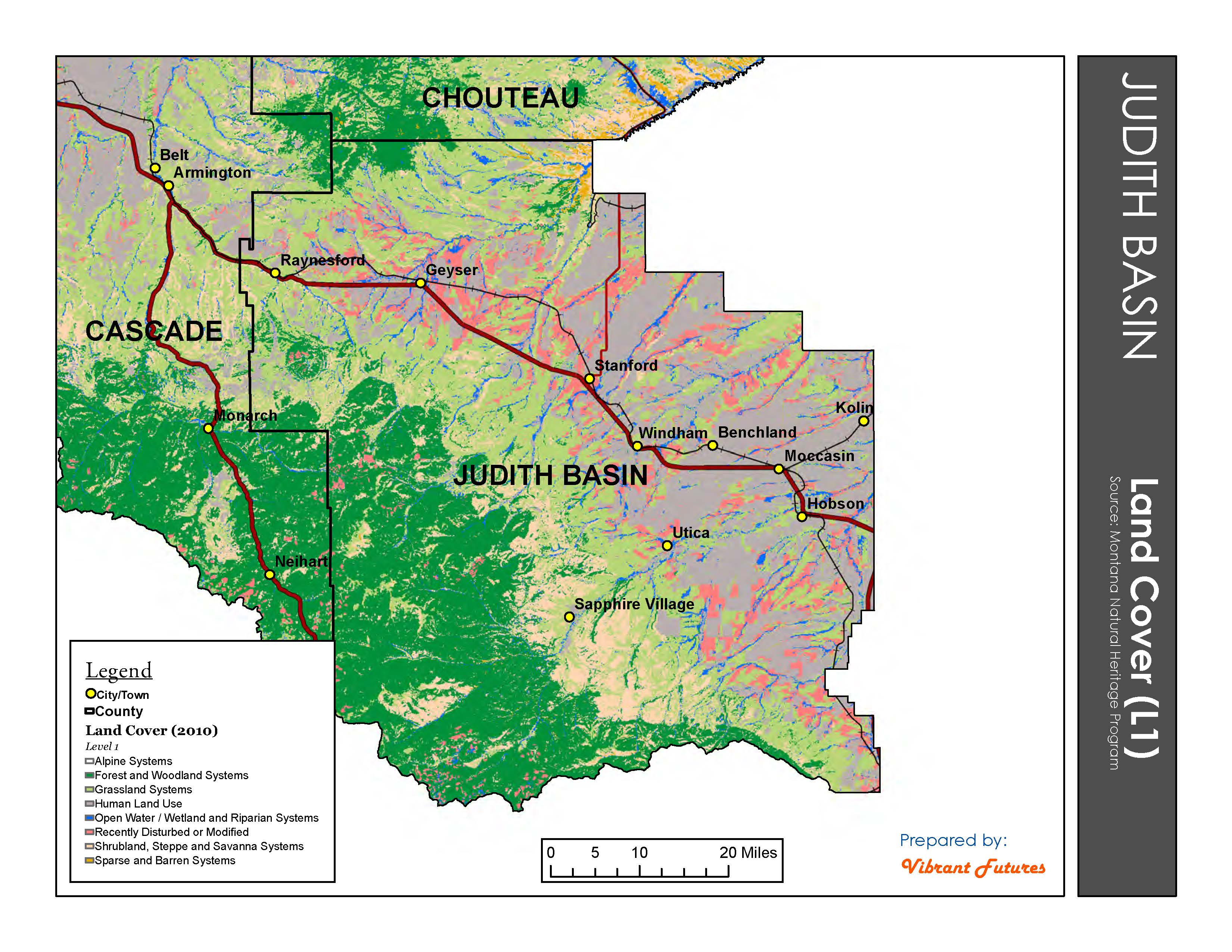 Land Cover Judith Basin County