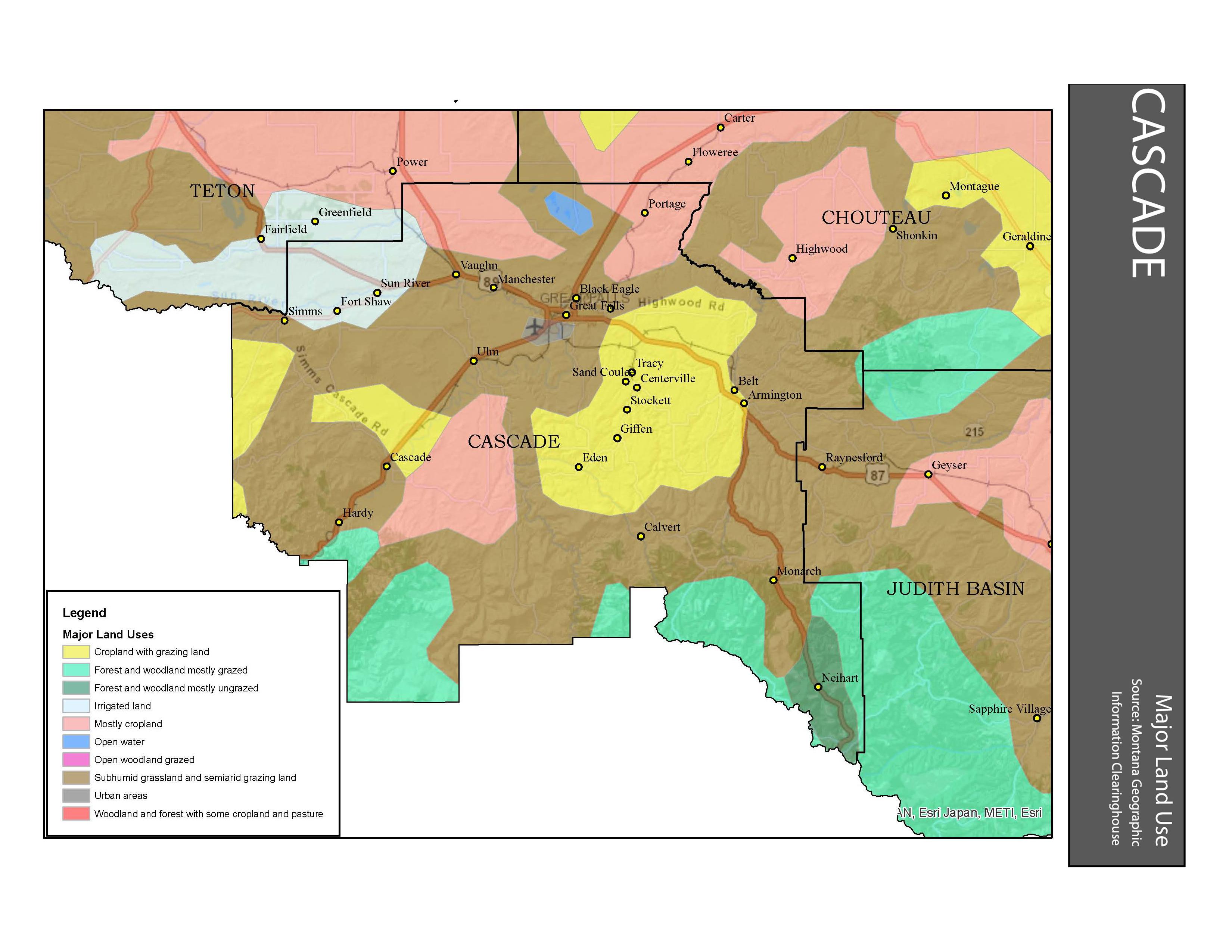 Major Land Use Cascade County