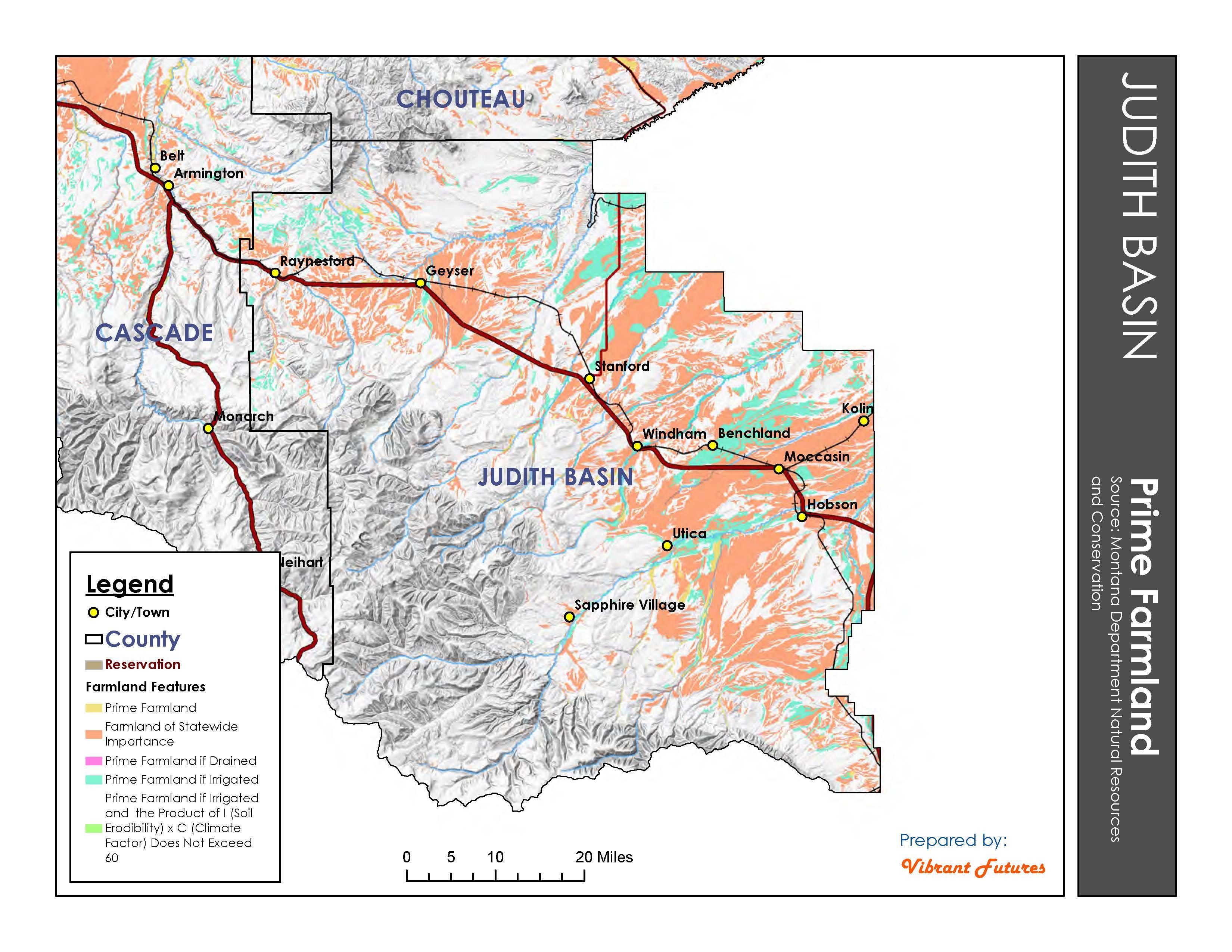 Prime Farmland Judith Basin County