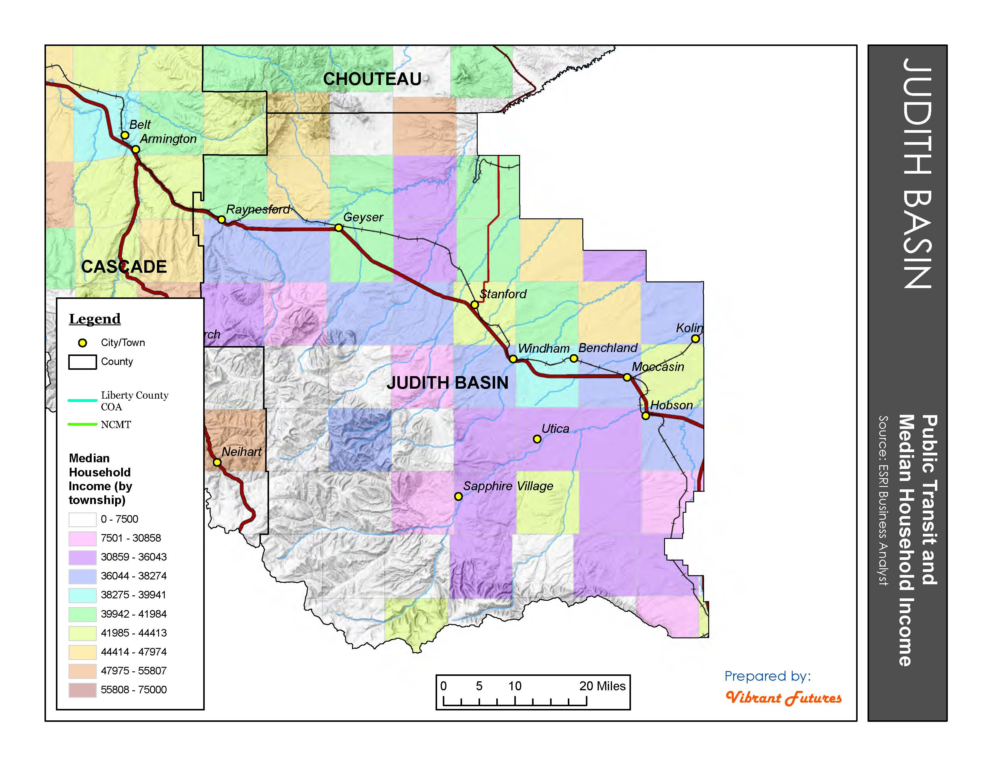 Transit and Income (by Township) Judith Basin County