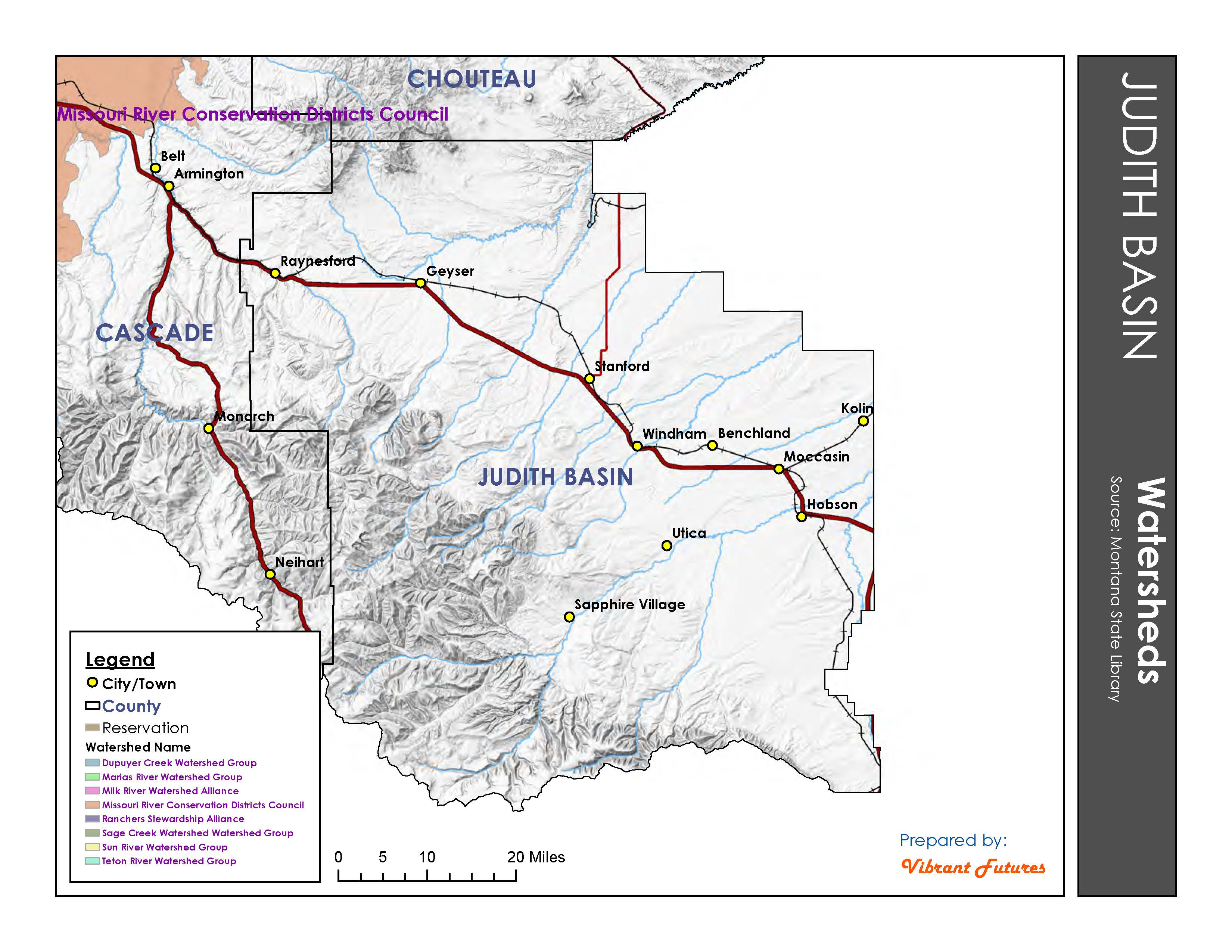 Watersheds Judith Basin County