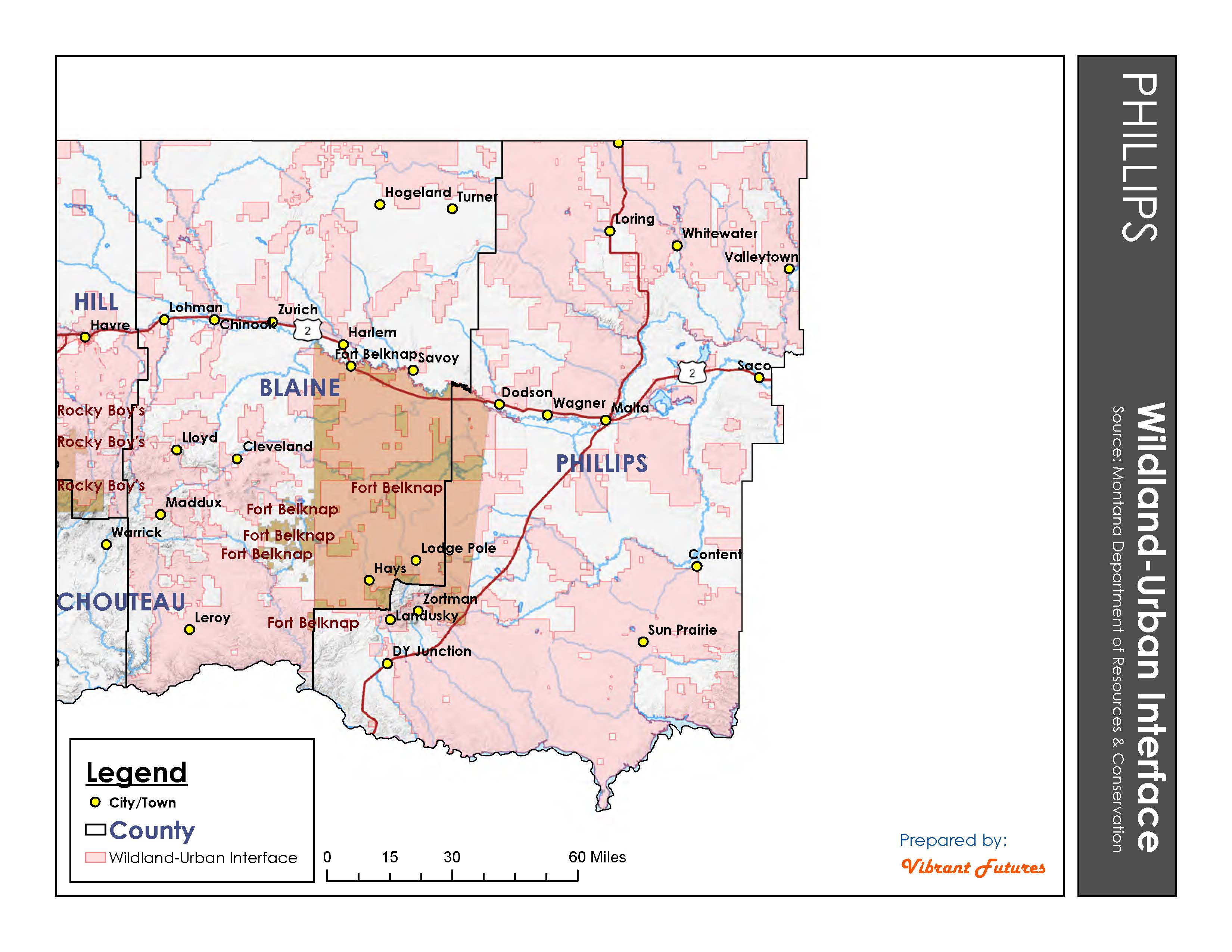 Montana blaine county hays - Wildland Urban Interface Phillips County