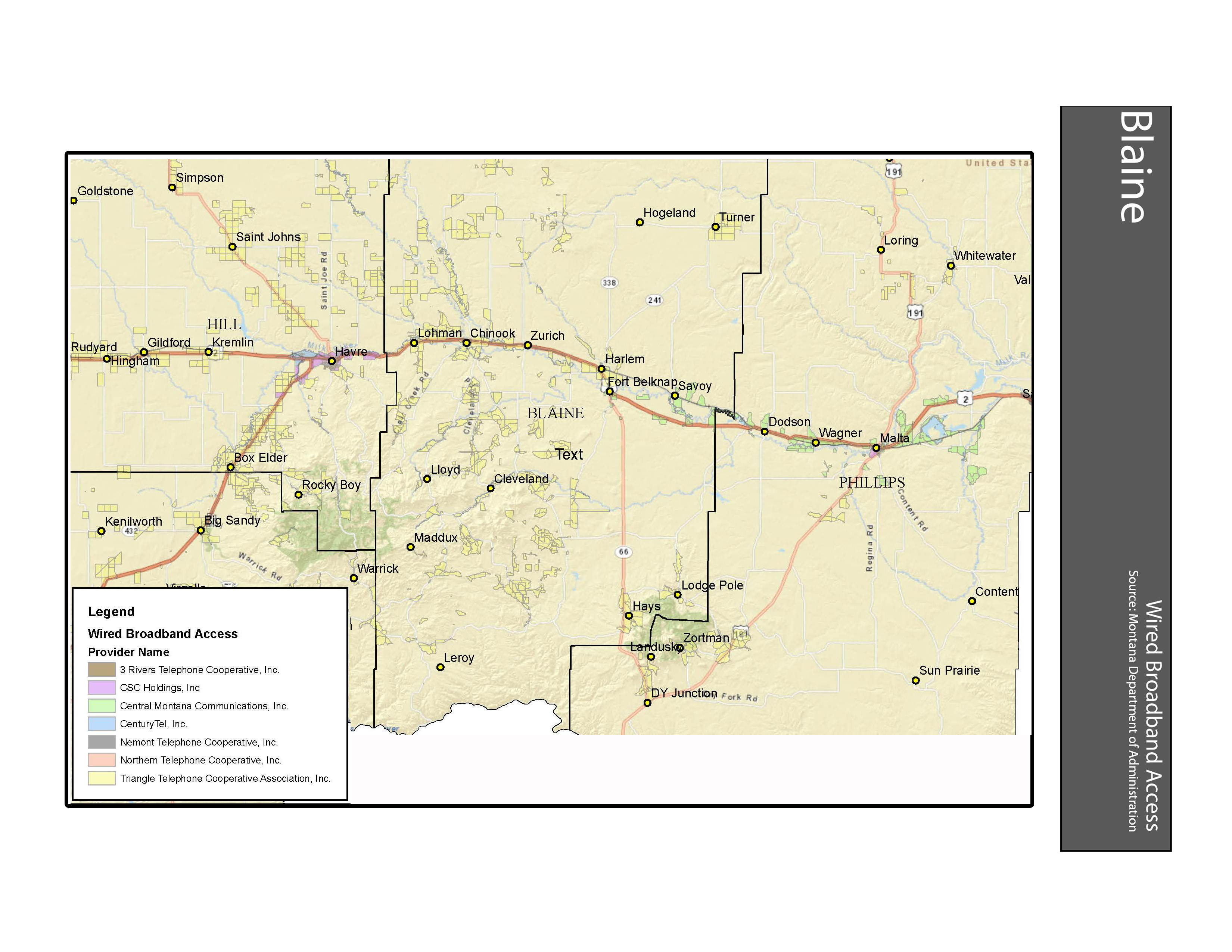 Montana blaine county hays - Wired Broadband Access Blaine County