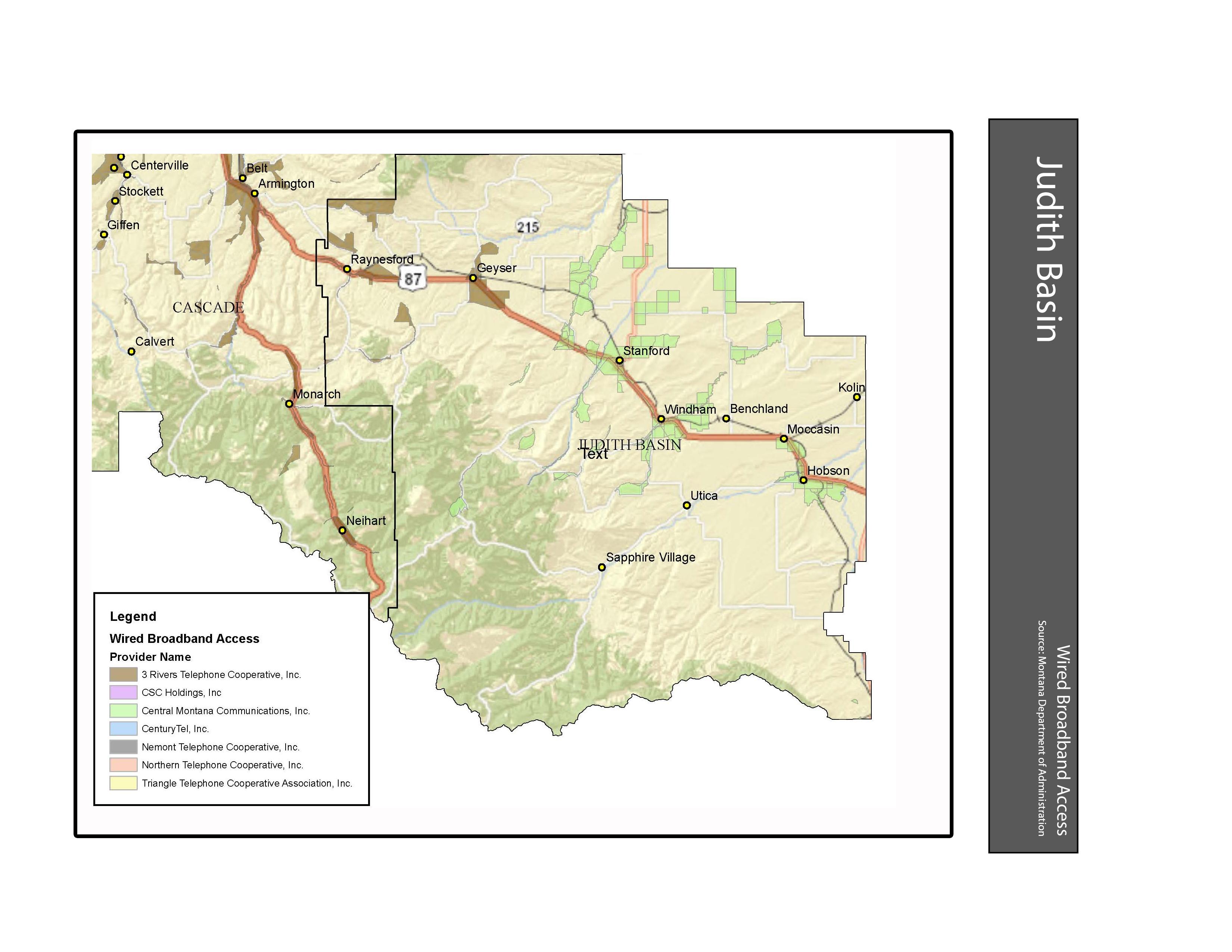 Wired Broadband Access Judith Basin County