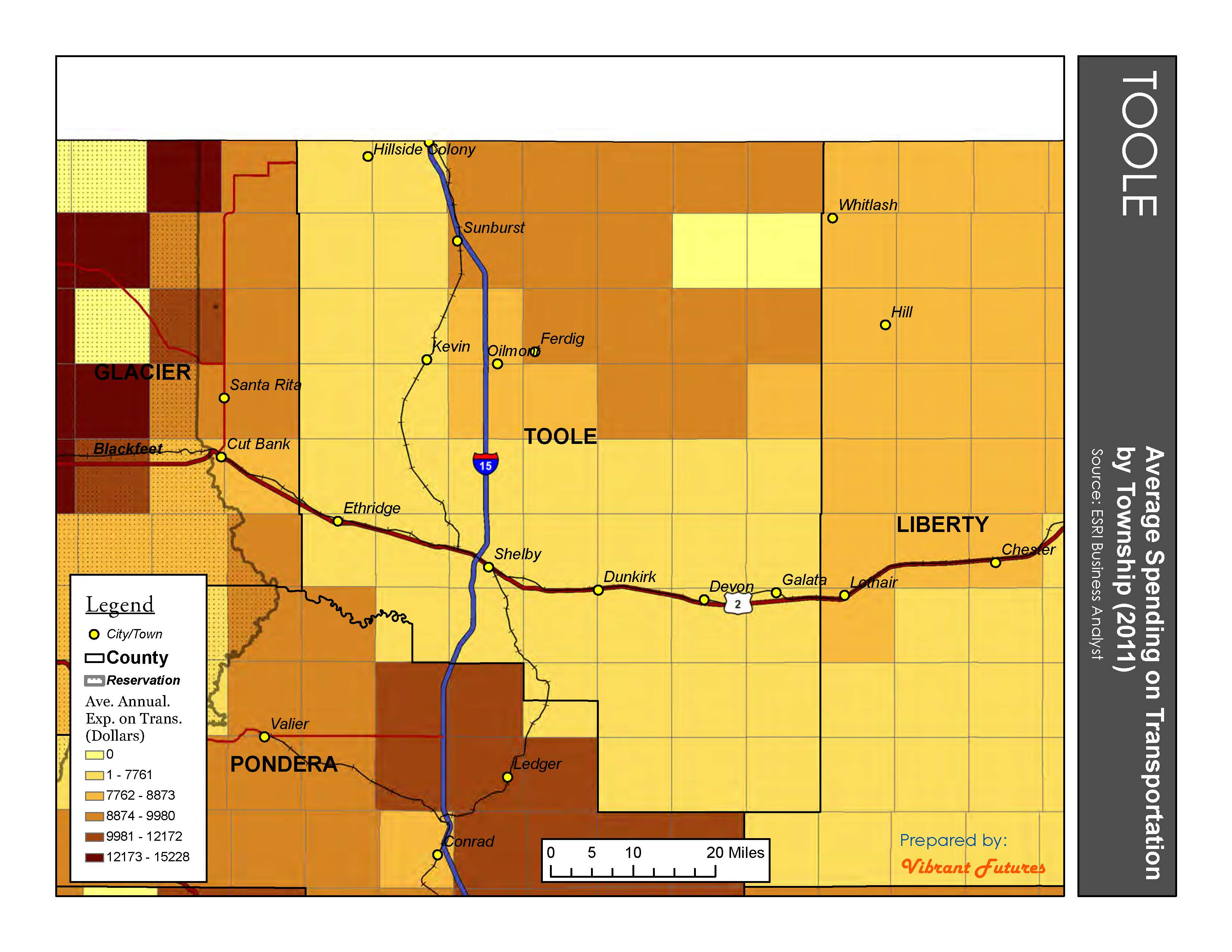 Average Expenditure on Transportation Toole County