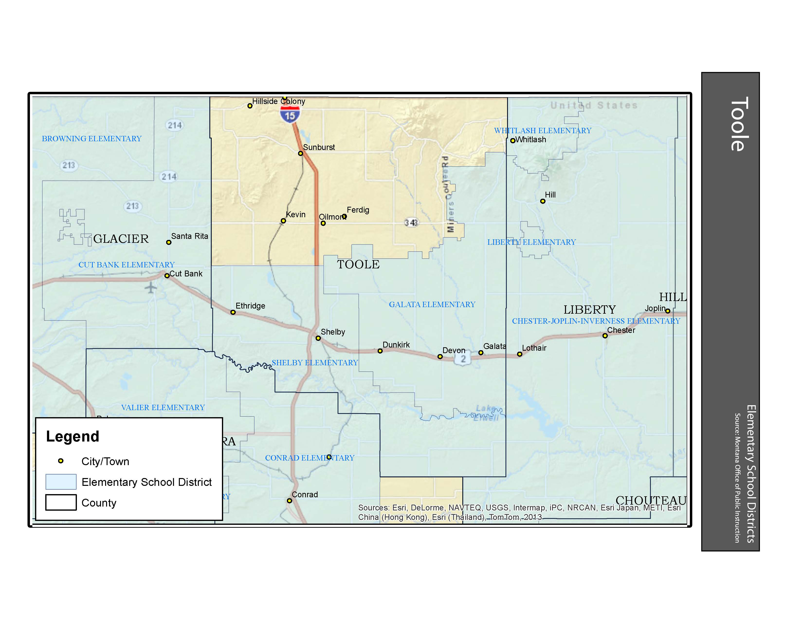 Elementary School Districts Toole County
