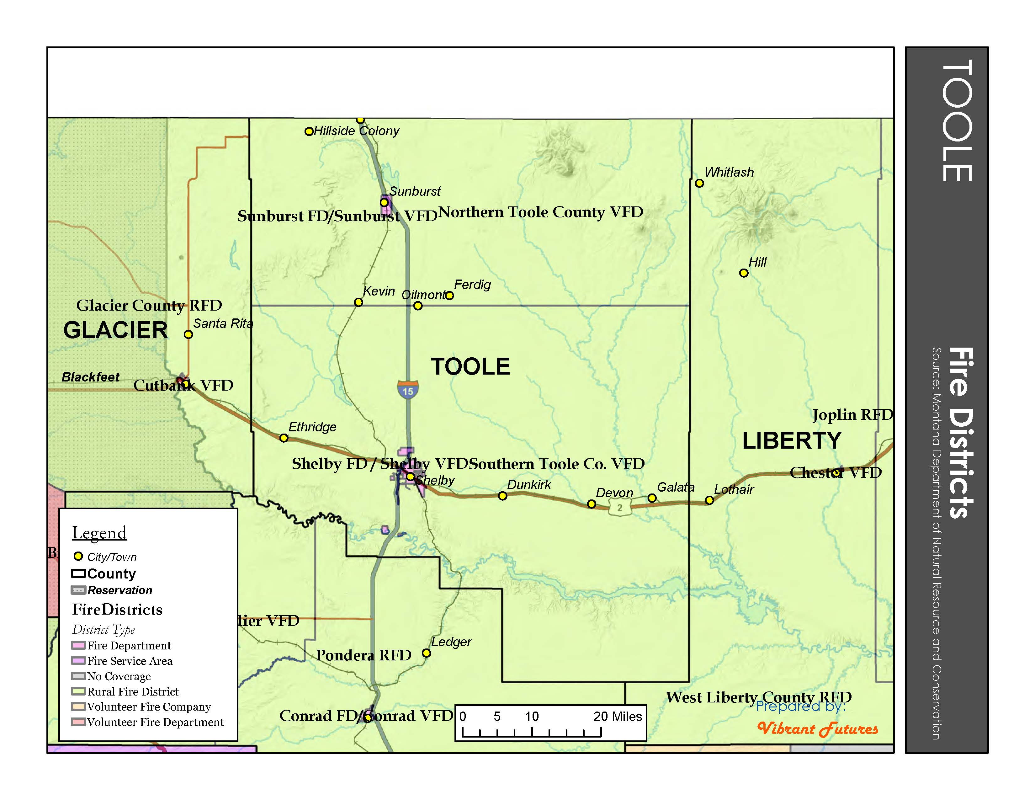 Fire Districts Toole County
