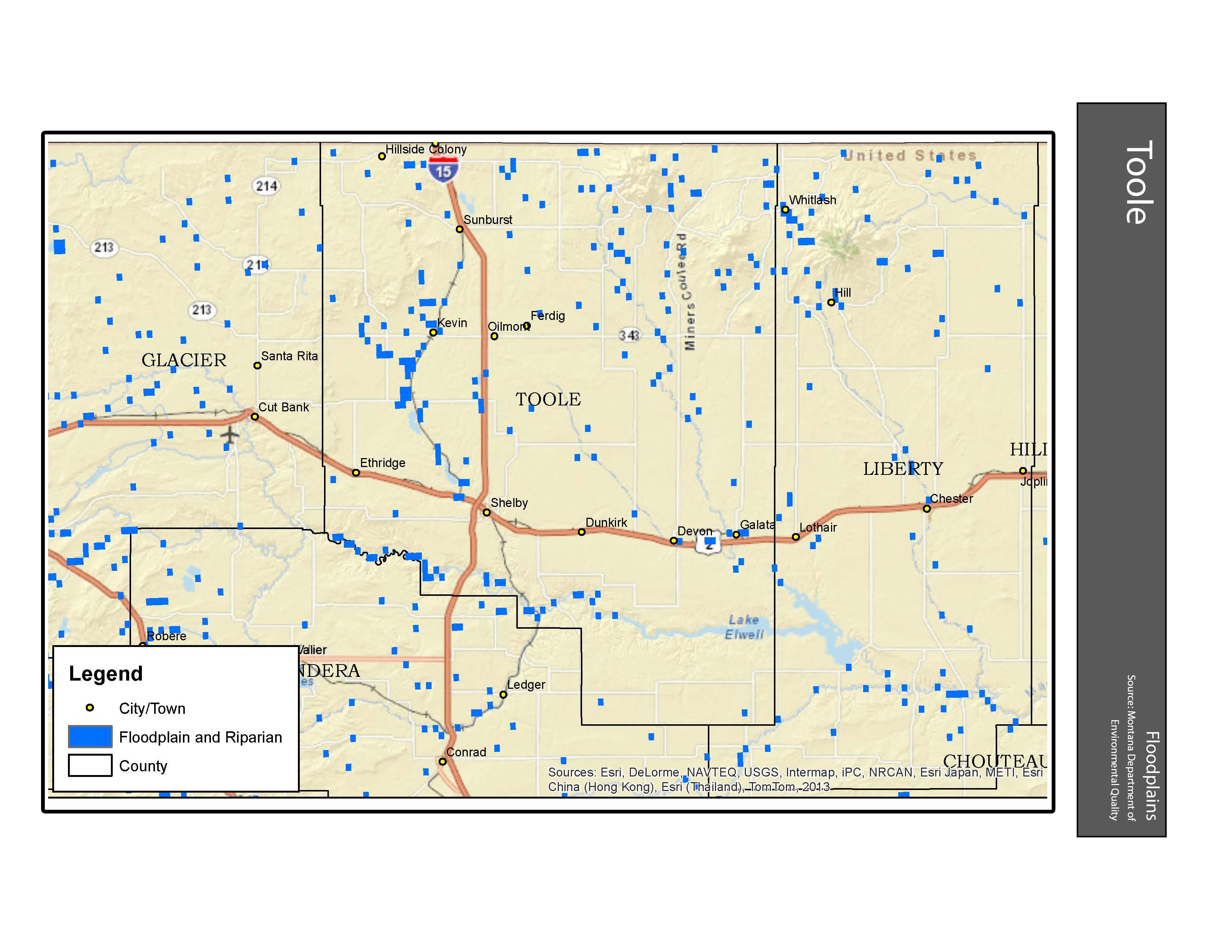 Floodplains Toole County