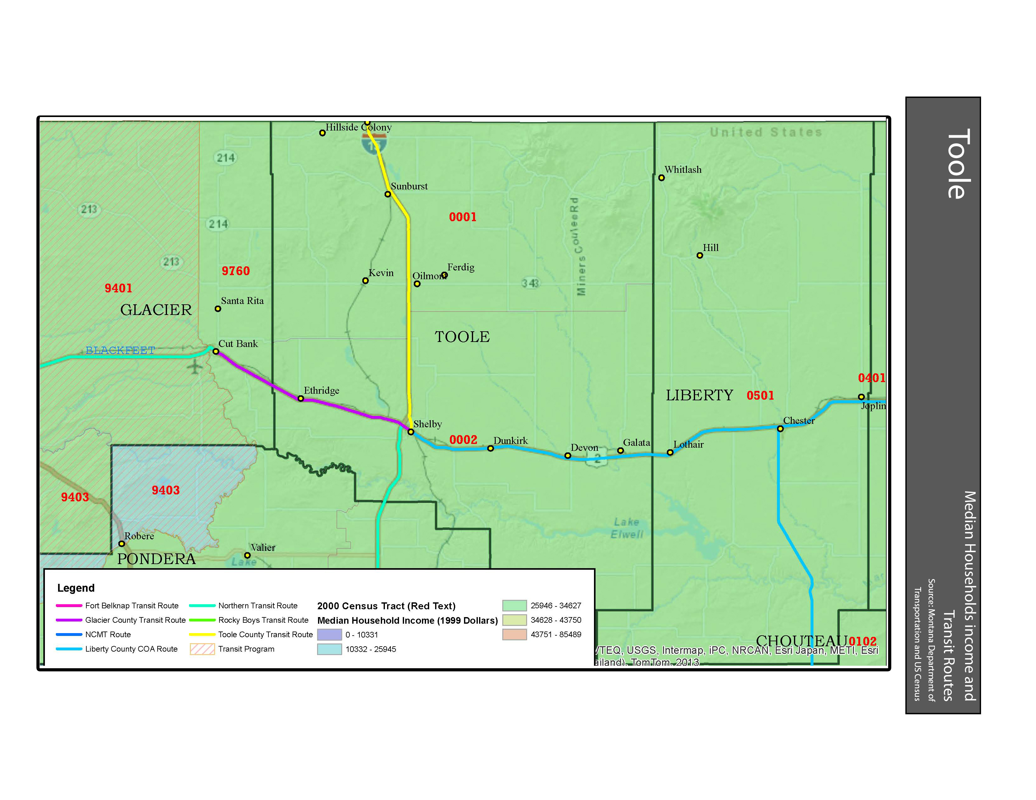 Income and Transit Toole County
