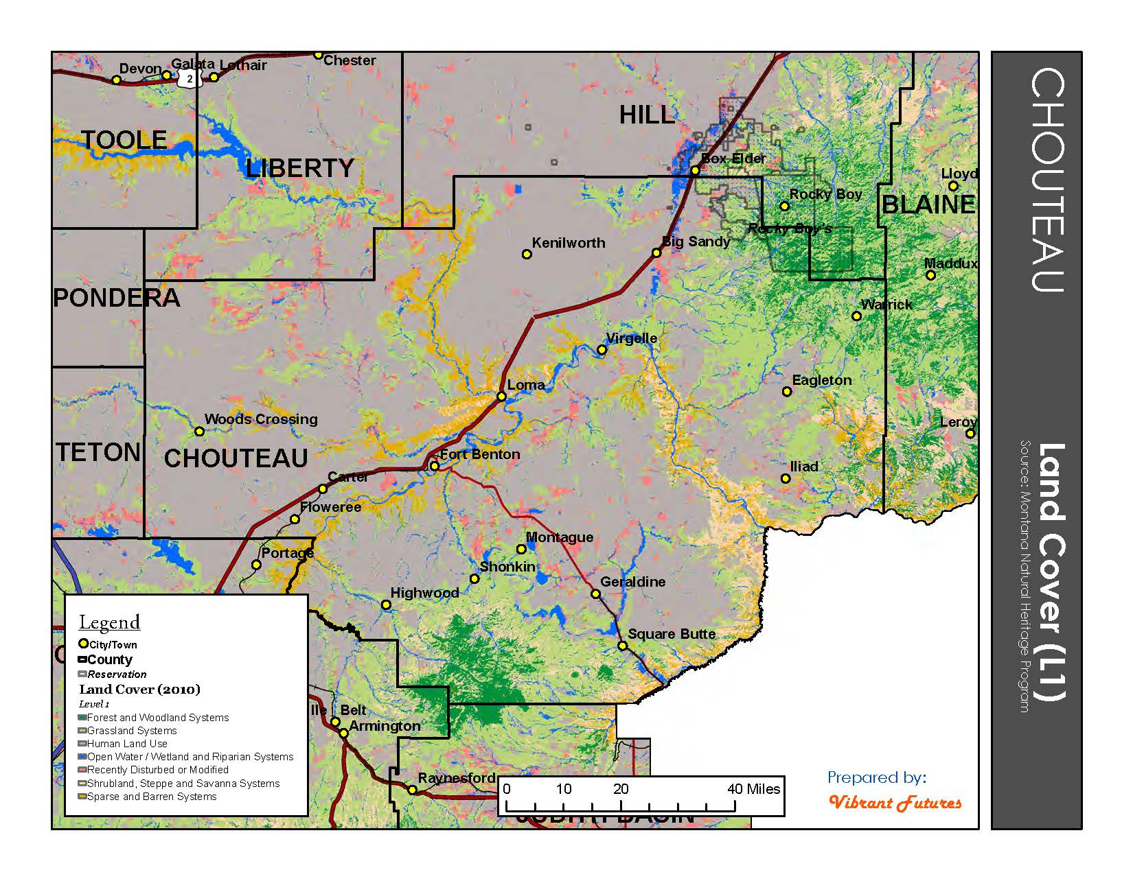 Land Cover Chouteau County
