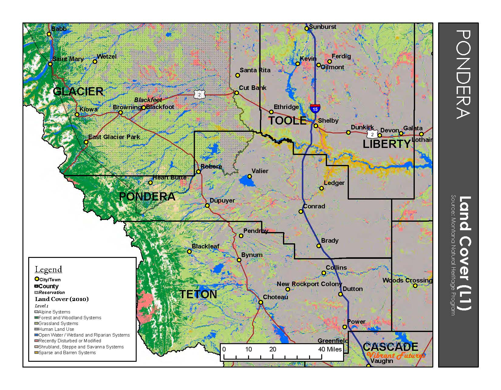 Land Cover Pondera County