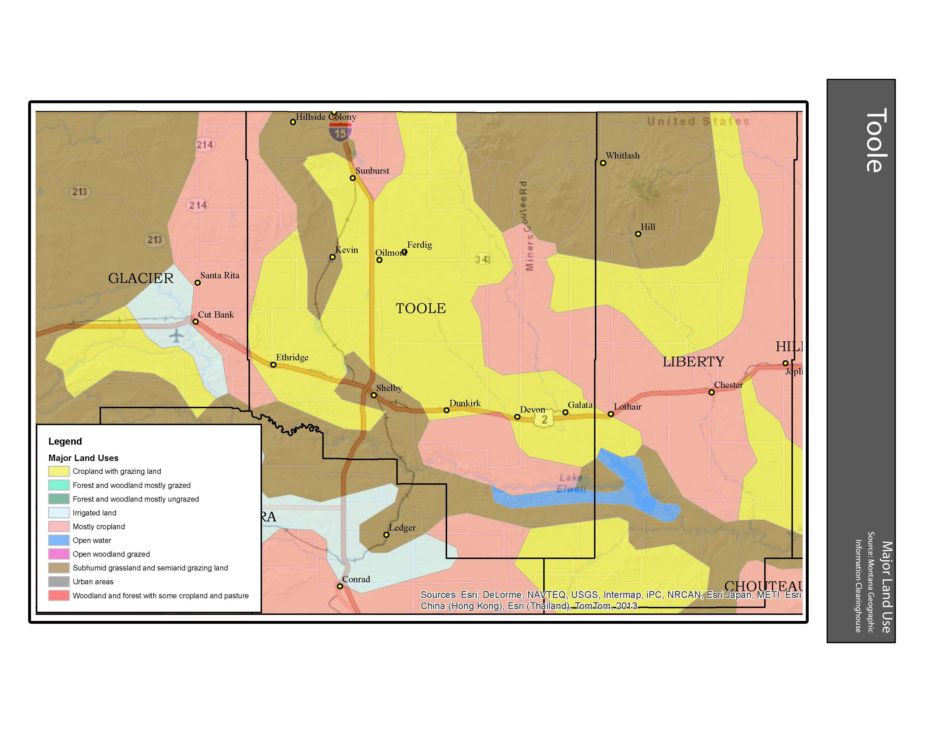 Major Land Use Toole County