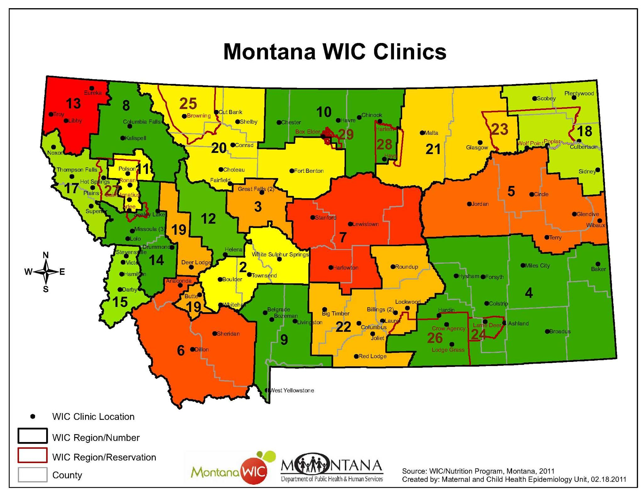Regional Maps Opportunity Link - Montana county map