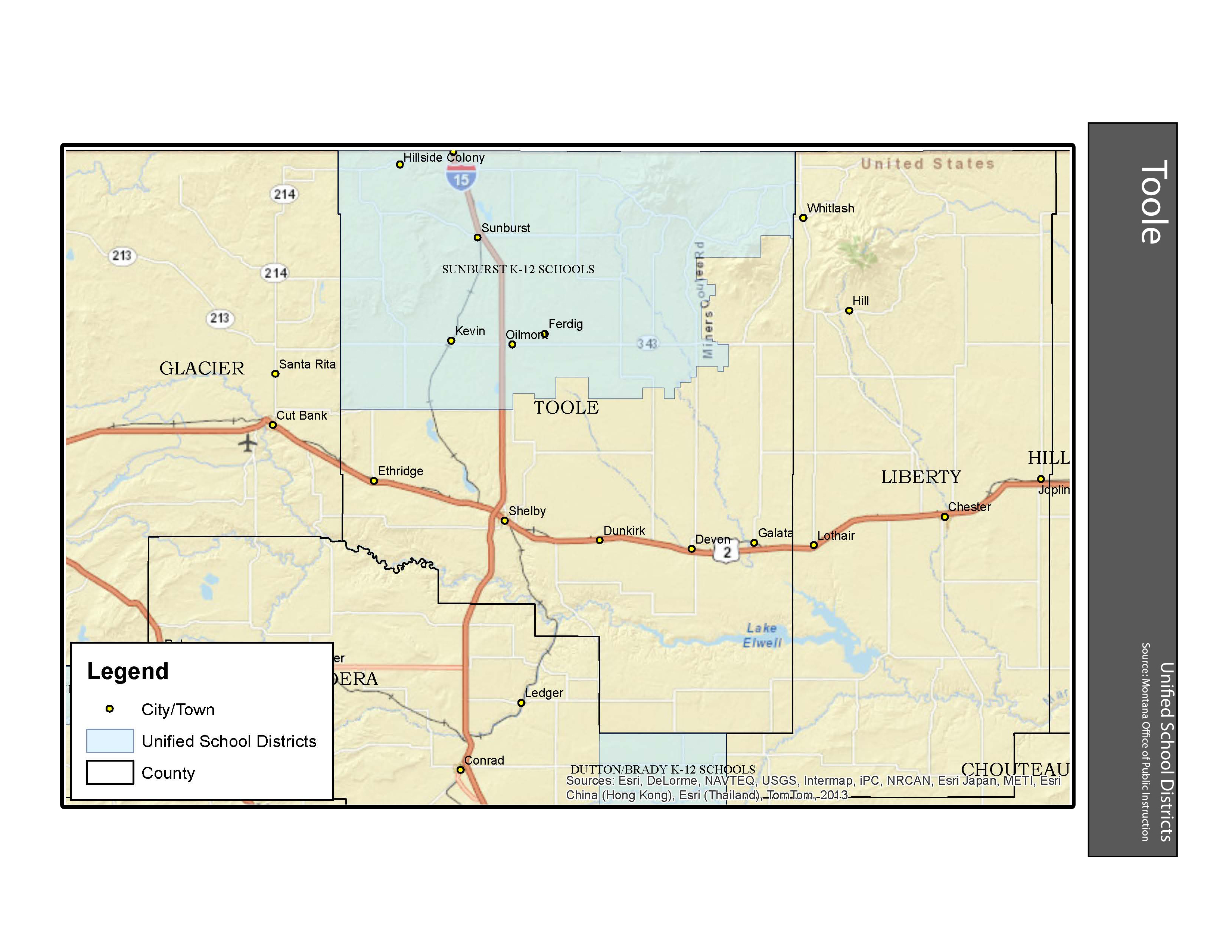 Unified School Districts Toole County