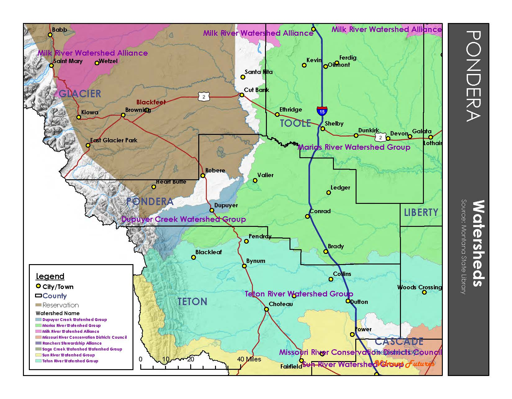 Watersheds Pondera County