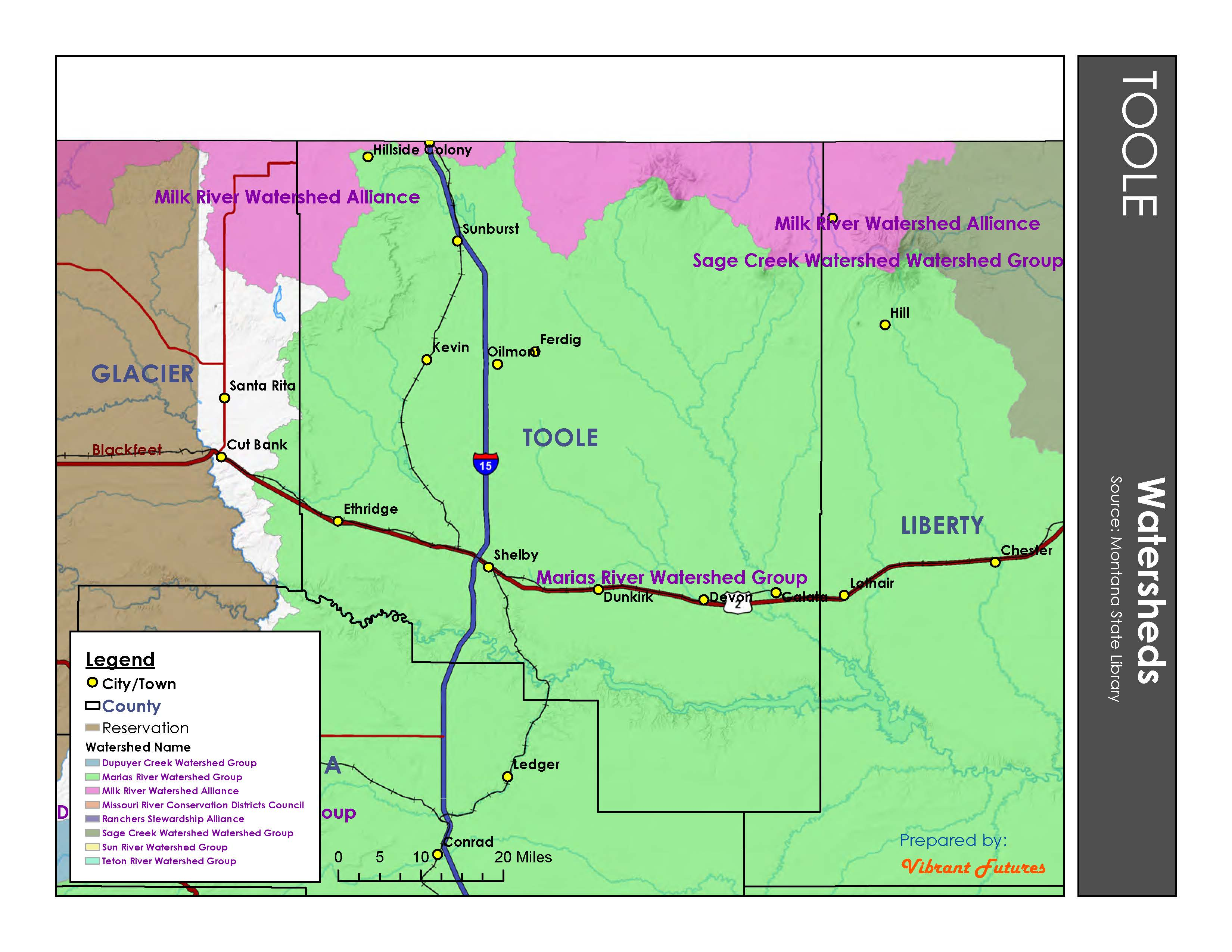 Watersheds Toole County