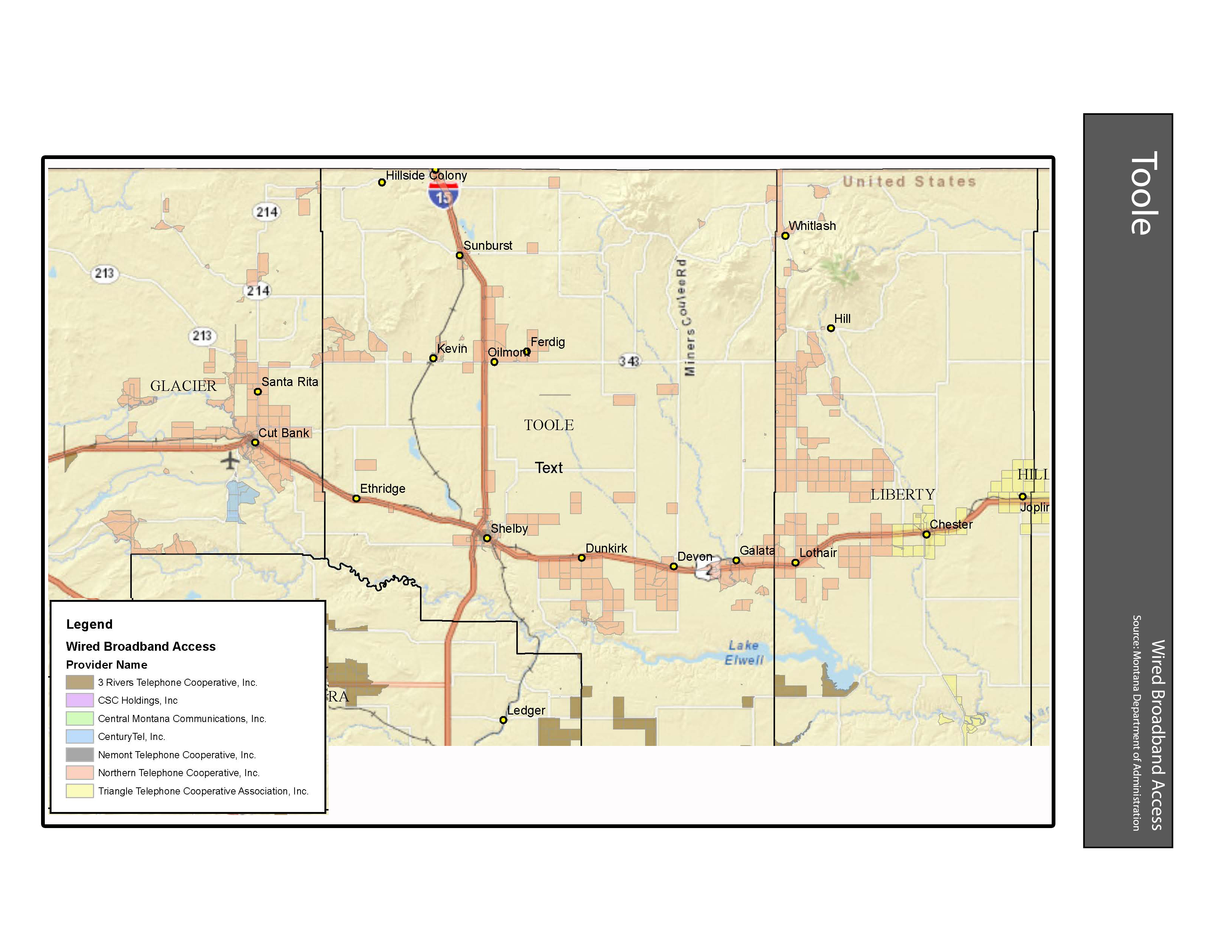 Wired Broadband Access Toole County